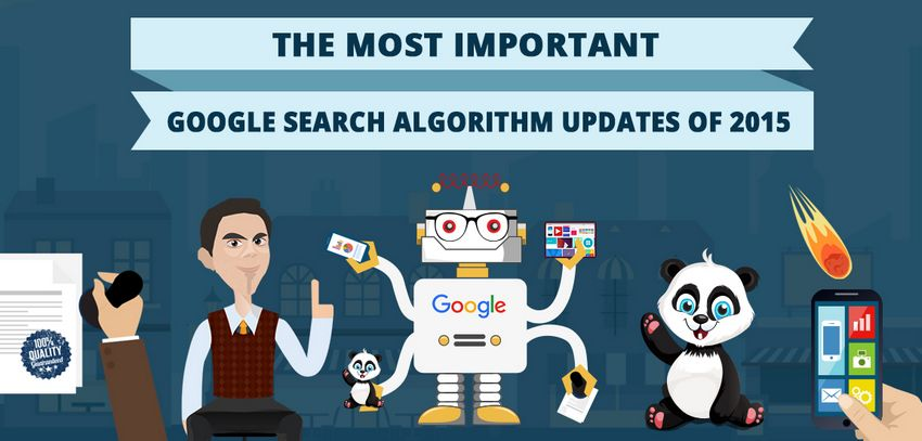 Bandeau : mises à jour de Google en 2015