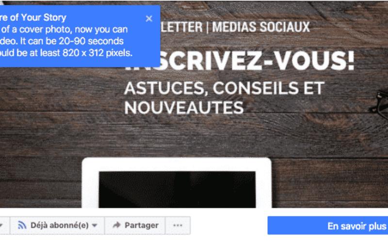 Facebook déploie les vidéos pour les couvertures en France